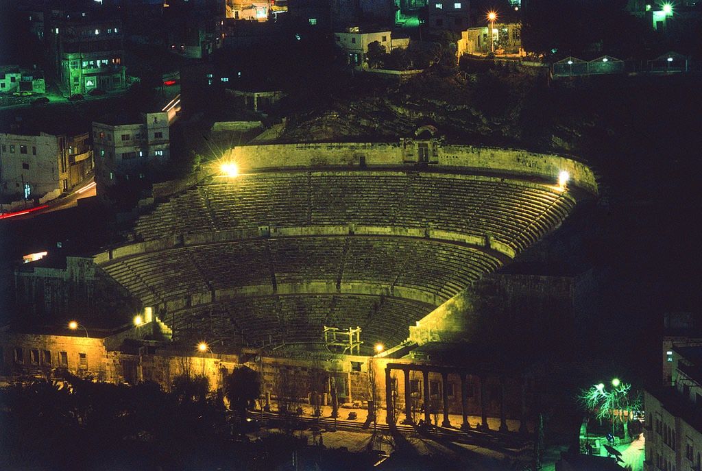 Roman Theatre by night