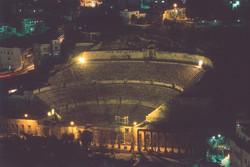 Roman Theatre by night