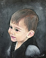 Oil Painted Portrait of a young child