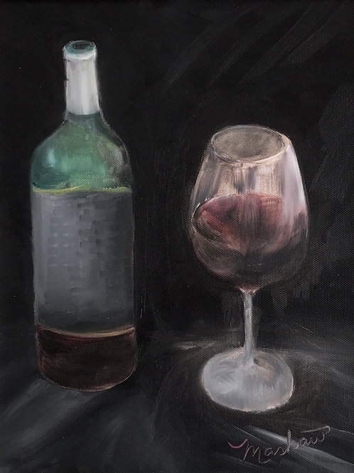 Red Wine and Glass