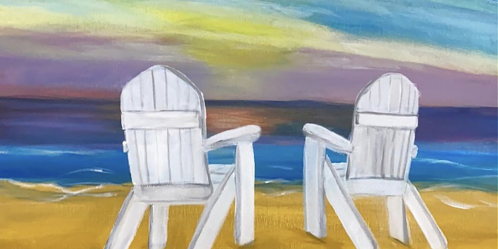 Beach Chairs - Online Painting