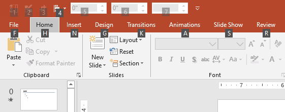 Powerpoint Quick Access Toolbar