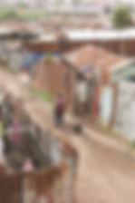 Projets Kenya - rues du bidonville de Ko