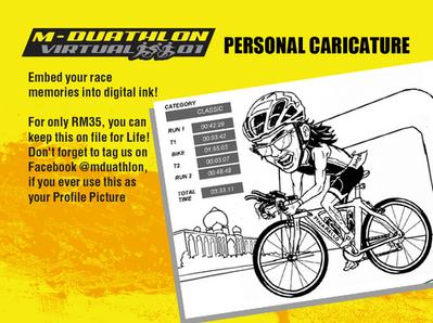 M-Duathlon Personal Caricature