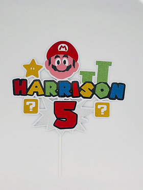 Super Mario inspired cake topper