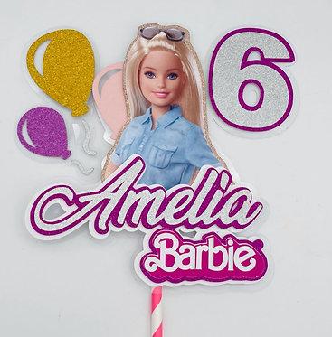 Barbie Doll inspired Cake Topper