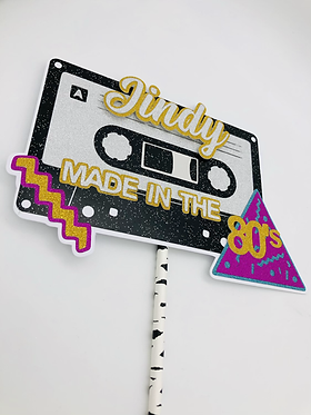80's cake topper, made in the 80's