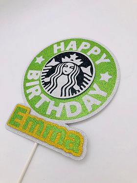 3D Starbucks coffee inspired cake topper