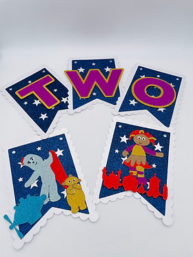 In the night garden inspired wall bunting
