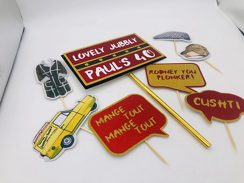 Only fools and horses cake topper set