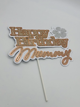 Happy birthday name with rose gold theme