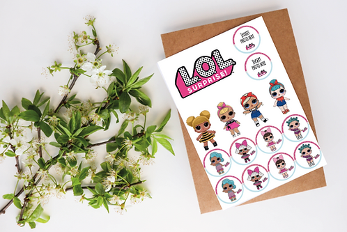Edible LOL Dolls Cupcake Toppers