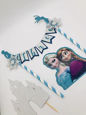 Frozen inspired cake topper buntin set