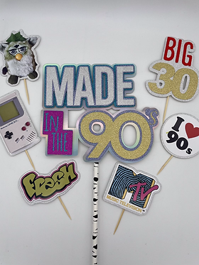 90's cake topper, made in the 90's