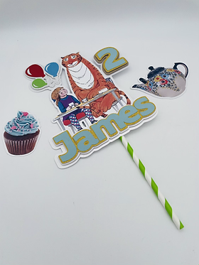The Tiger Who Came to Tea inspired cake topper