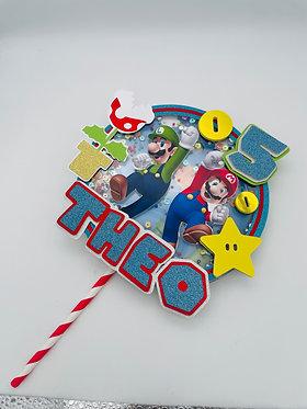 Flashing Shaker Super Mario Cake Topper