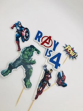 Avengers inspired cake topper set