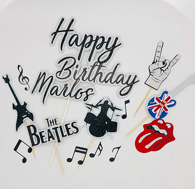 60's Rock n Roll inspired cake toppers