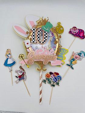 Alice In Wonderland Flashing Shaker Cake Topper
