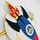 Thumbnail: Space rocket cake topper with mini shaker