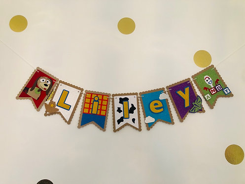Toy Story inspired wall bunting