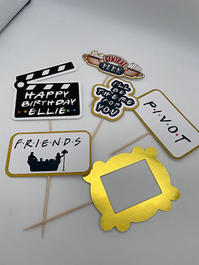 Friends Inspired Cupcake Toppers x6