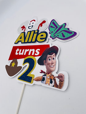 Toy story 'Woody and forky' inspired cake topper