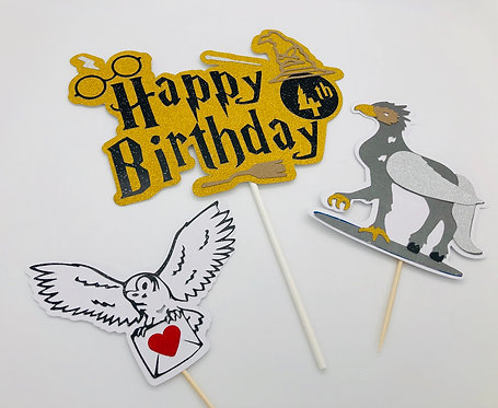 Harry Potter themed cake topper!