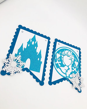 Frozen inspired wall bunting with name