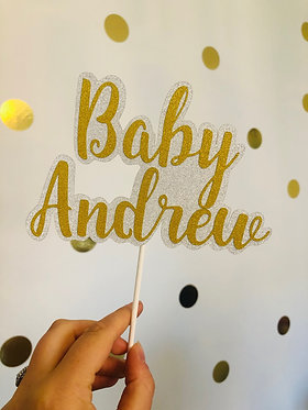 Baby shower or new baby cake topper