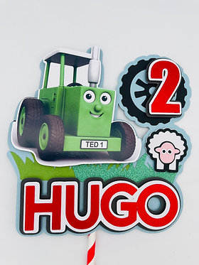 Tractor Ted inspired cake topper