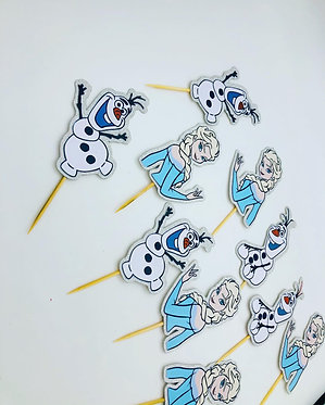 Frozen inspired cupcake toppers