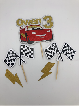 Pixar Cars inspired cupcake toppers