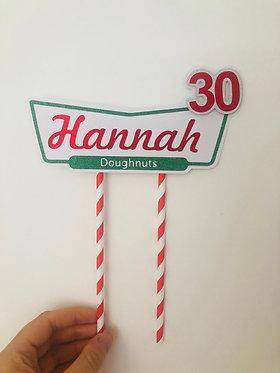 3D Krispy Kreme inspired cake topper
