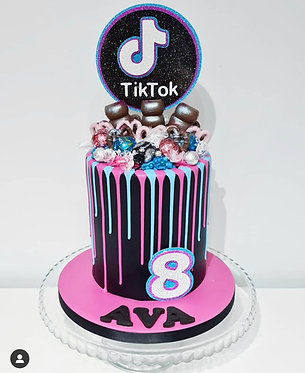 3D Tiktok inspired cake topper and number