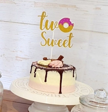 Two sweet doughnut cake topper for a 2nd birthday