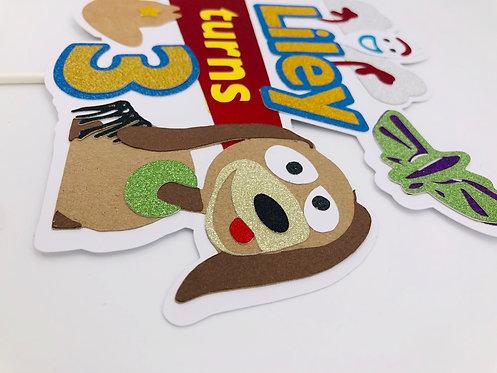 Toy story 'forky and slinky' cake topper