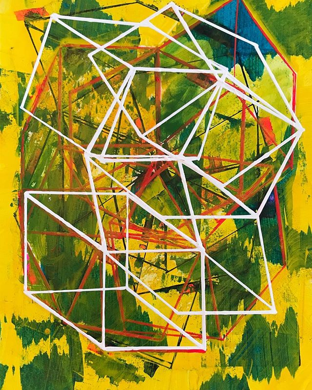 "Climb, 2017_Acrylic on paper 11x14""_#geometry #artwork #abstract #gallery #collector #lowereastside"