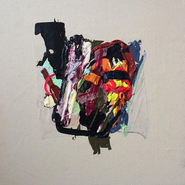 Scrap, 2016_Acrylic and vellum on canvas