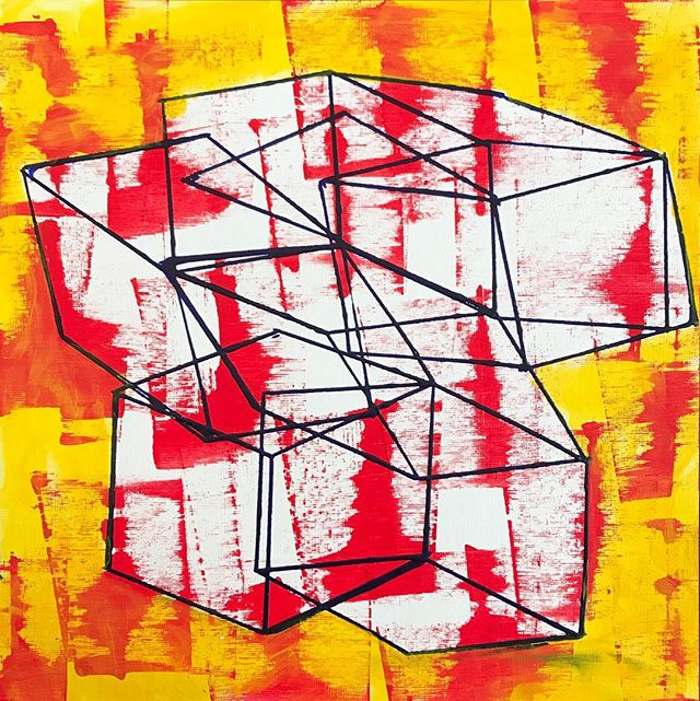 "Acrylic on paper 12x12"""