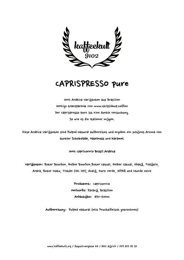 Caprispresso pure_Kaffeeinformationen_1.