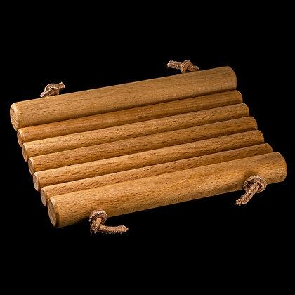Seifenablage mit runden Thermoholzstäben hell geölt