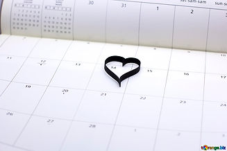 Heart Calendarimage from torange_biz fre