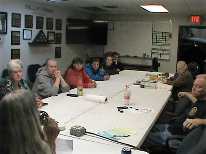 Taylorsville Crime Watch meeting