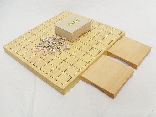 将棋盤 新かや材(スプルス材)1寸卓上盤セット