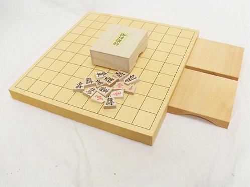 将棋盤 ひば材1寸卓上盤セット