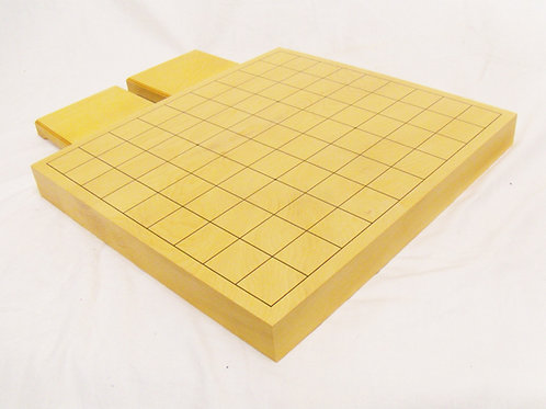 将棋盤 国産本榧(かや)材1寸卓上盤 (厚 約3cm)並 <駒台付>