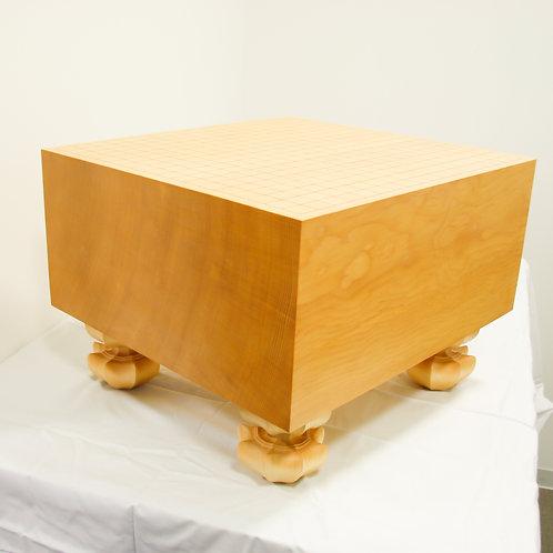 碁盤 新かや材(スプルス材)7寸(厚,約20,6cm)足付盤