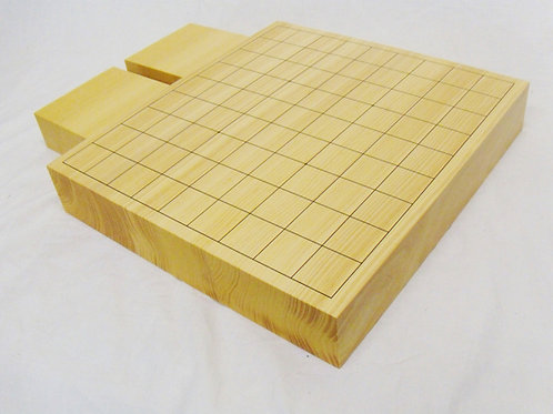 将棋盤 国産本榧(かや)材2寸卓上盤(上 厚約5,8cm)駒台付