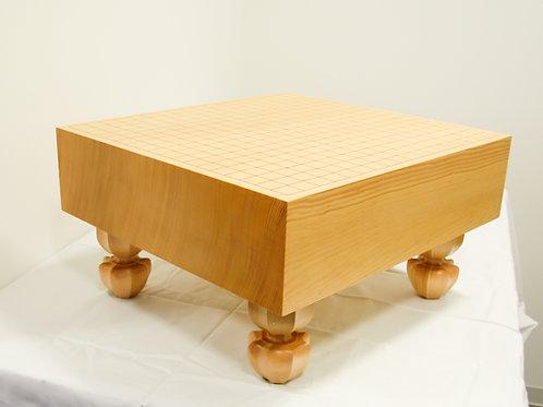 碁盤 新かや材(スプルス材)4寸(厚,約11,6cm)足付盤